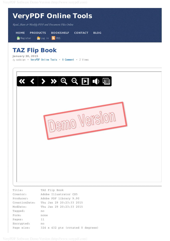 TAZ Hair Co  – Styles Flip Book | VeryPDF Online Tools