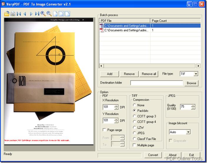 convert PDF to image in PDF to Image Converter