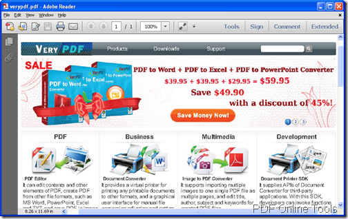 created PDF file