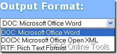 set output format