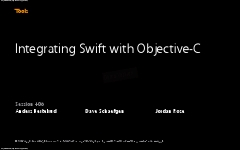 406 – Integrating Swift with Objective_DF