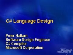 C+ Language Design