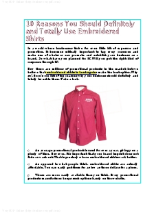 10 Reasons You Should Definitely and Totally Use Embroidered Shirts