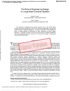 The Role of Engineering Design in Large-Scale Complex Systems