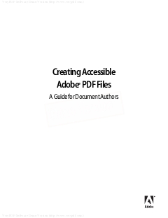 Creating Accessible Adobe PDF Files