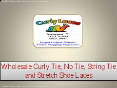 Wholesale Curly Tie, No Tie, String Tie and Stretch Shoe Laces