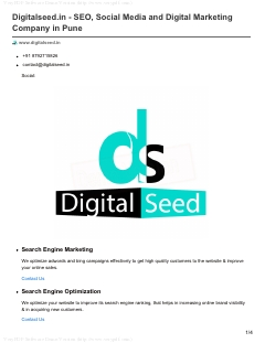 Digitalseed.in – SEO, Social Media and Digital Marketing Company in Pune