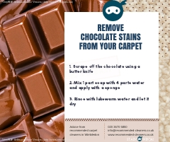 How to remove chocolate stains from your carpet