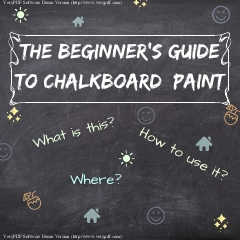 Beginners guide to chalkboard paint